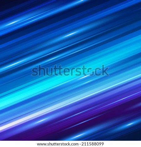 Blue motion blur abstract background. Vector illustration. - stock vector