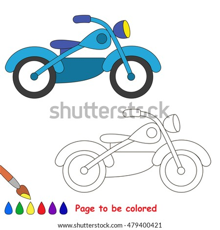 Transportation motor theme elements stock illustration for Motor scooter blue book