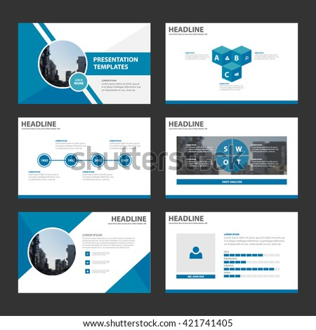 blue purple presentation template infographic elements stock vector, Blue Presentation Template, Presentation templates
