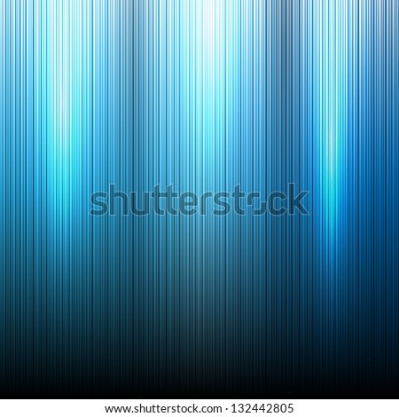 Blue Neon abstract lines design on dark background vector - stock vector