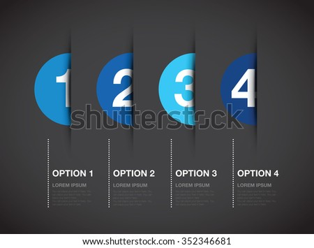 blue numbered option background - stock vector