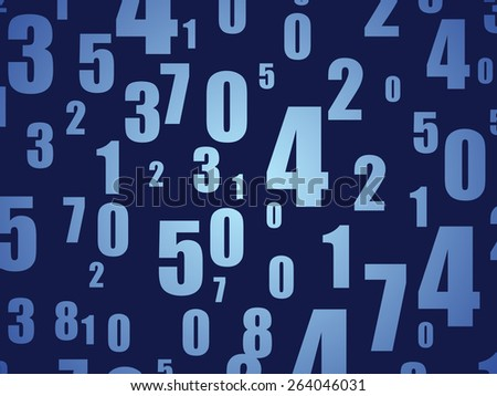 Blue Numbers Code Spy Background Or Texture Wallpaper