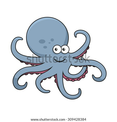 blue octopus cartoon character big round stock photo photo vector rh shutterstock com cartoon octopus character images blue octopus cartoon character