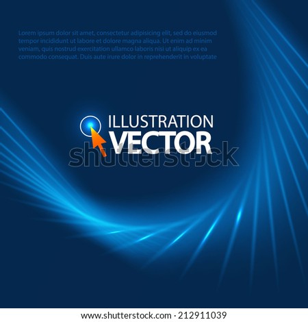 Blue Optical Fibers for your business presentation. Vector illustration  - stock vector