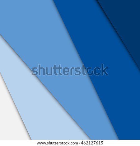 Blue overlap layer paper material design, stock vector