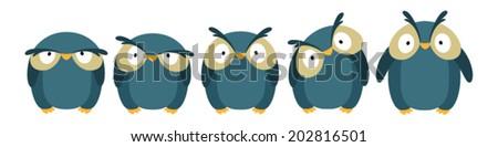 blue owl - stock vector