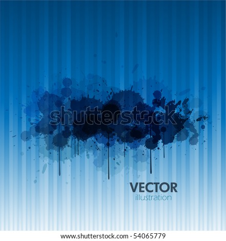 Blue paint background - stock vector