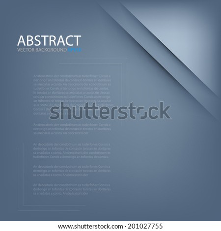 Blue paper background layer overlaping shadow for text and message modern artwork design - stock vector