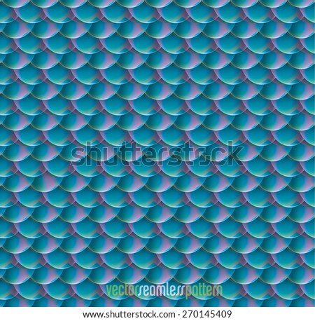 blue pink scale seamless pattern. - stock vector