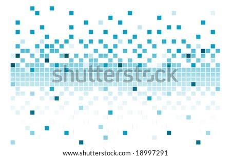 blue pixels - stock vector