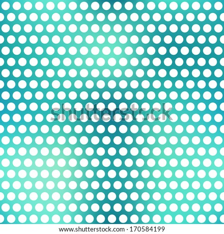 blue points seamless pattern - stock vector