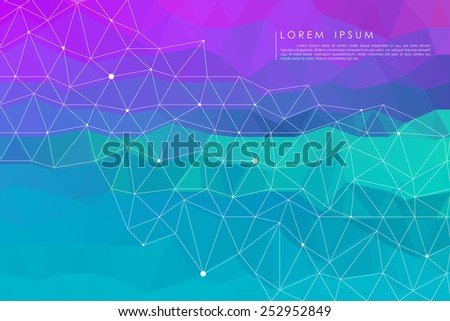 blue polygon abstract background vector - stock vector