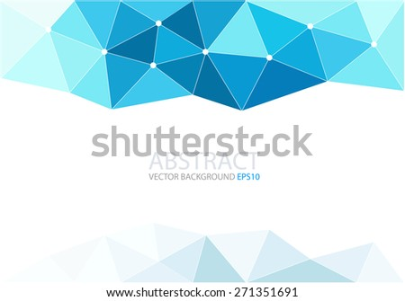 Blue polygon background triangle geometric gradient color with white space for text and message modern artwork design , vector - stock vector