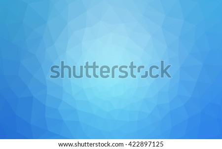 Blue polygonal illustration, which consist of triangles. Geometric background in Origami style with gradient. Triangular design for your business. - stock vector