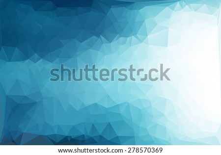 Blue Polygonal Mosaic Background, Creative Design Templates - stock vector