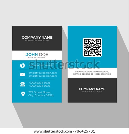 Blue professional multipurpose business card all stock vector blue professional multipurpose business card for all designations colourmoves Images