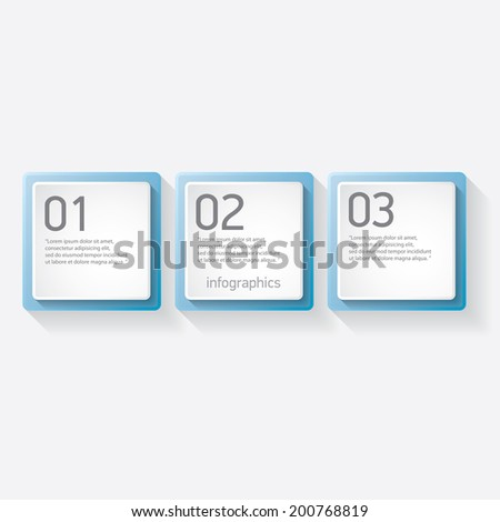 blue progress paper banners / can be used for infographics / numbered banners / horizontal cutout lines / graphic or website layout vector - stock vector