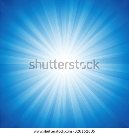 Blue radiance background vector illustration. Saved in EPS 10 with transparencies, well layered and easy to use. - stock vector