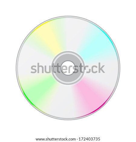 Blue-ray, DVD or CD disc. - stock vector