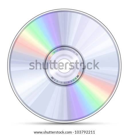Blue-ray, DVD or CD disc. Vector illustration - stock vector