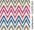 Blue red and gray seamless chevron background pattern - stock vector