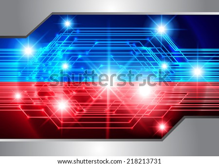 blue red Light Abstract Technology background for computer graphic website and internet, circuit board.