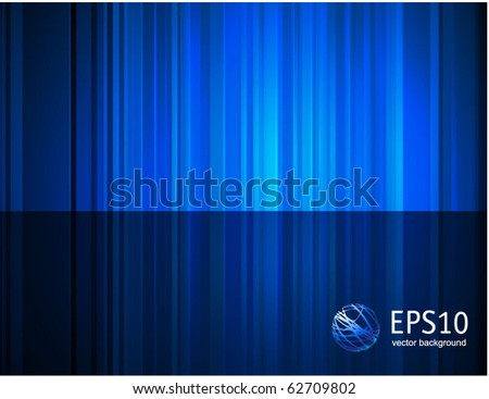 Blue reflection abstract background. Vector. - stock vector
