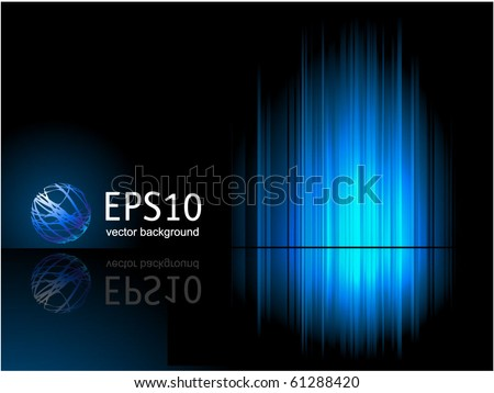 Blue reflection. Vector. - stock vector
