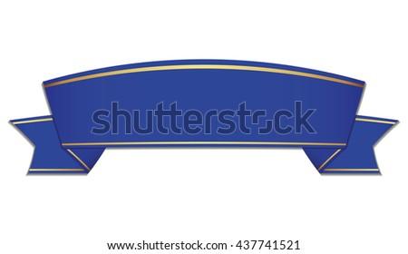 blue ribbon on white background - stock vector