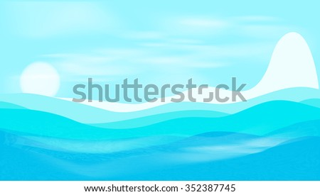 Blue sea. - stock vector