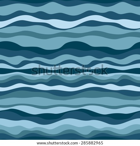 Blue sea. Abstract pattern. - stock vector