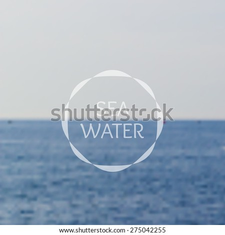Blue sea water unfocus hipster background. Vector illustration - stock vector