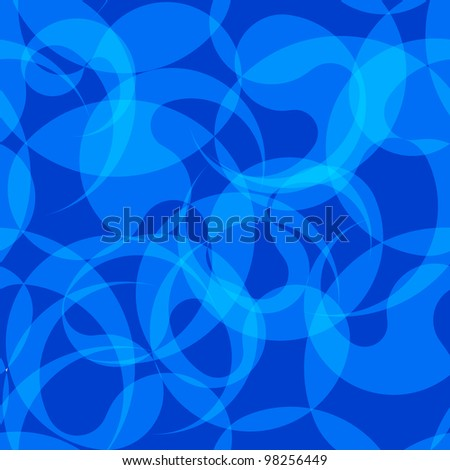 Blue seamless abstract pattern - stock vector