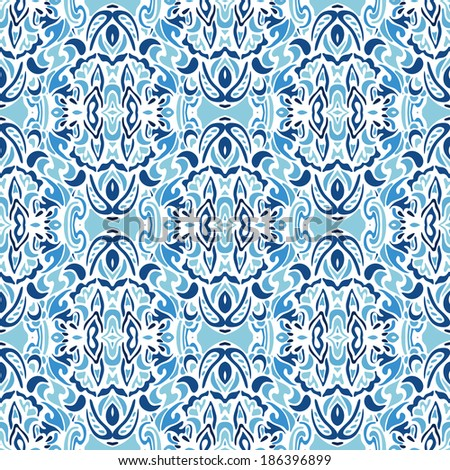 blue seamless abstract vector  design