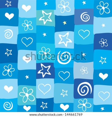 Blue seamless background. vector background