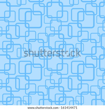 Blue seamless pattern with squares. Vector illustration - stock vector