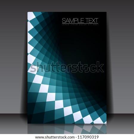 Blue Shape Flyer Template Design | EPS10 Vector Background - stock vector