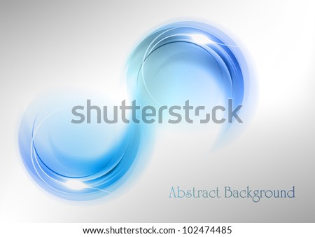 blue shape on the white background - stock vector