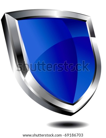 Blue Shield - stock vector