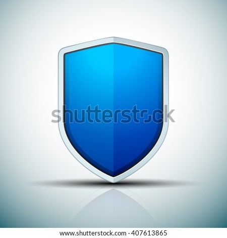 Blue Shield sign - stock vector