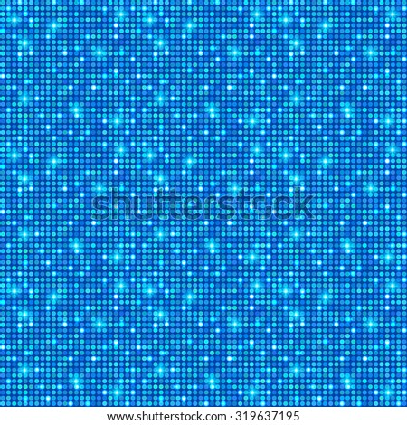 Blue shining dots background. Network concept. Shining texture. Vector illustration for graphic design.  - stock vector