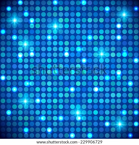Blue shining dots background. Network concept. Vector illustration for graphic design.  - stock vector
