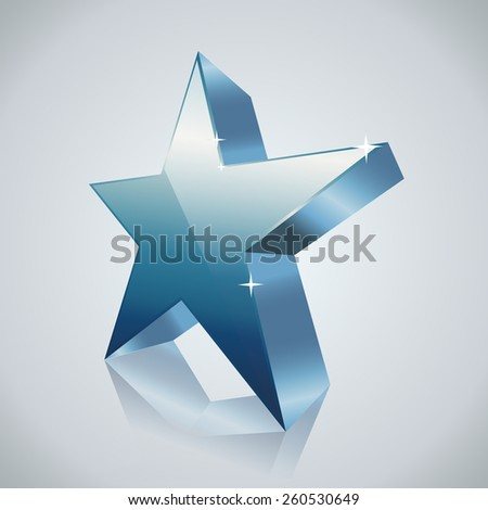 blue shining star - stock vector
