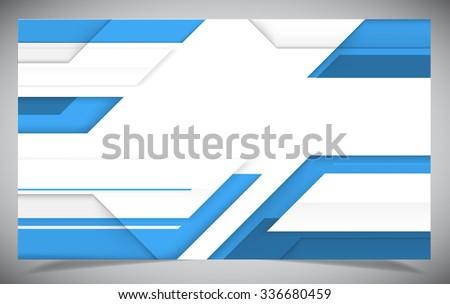 Blue shiny hi-tech motion background. Vector design - stock vector