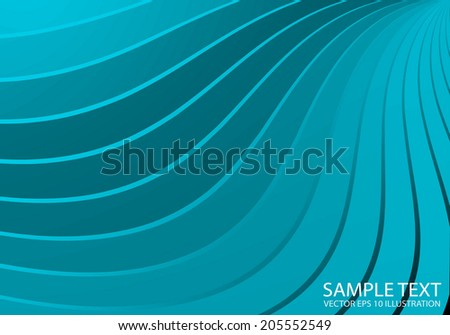 Blue shiny vector lined background  illustration - Vector blue abstract shiny template - stock vector