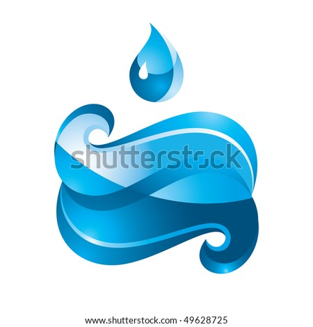 Blue Sign Water - stock vector