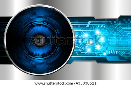 blue silver abstract light hi speed internet technology background illustration, Background conceptual image of digital. Cyber security concept, Cyber data digital. eye scan virus computer. vector