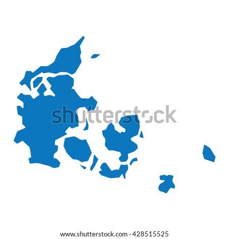 Blue similar Denmark map. Denmark map blank. Denmark map vector. Denmark map flat. Denmark map template. Denmark map object. Denmark map eps. Denmark map infographic. Denmark map clean. Denmark map.  - stock vector