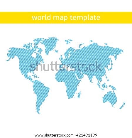 Blue similar world map. World map art. World map card - stock vector. World map blank. World map vector. World map flat. World map template. World map object. World map eps. World map clean.  - stock vector