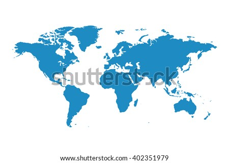 Blue similar world map. World map blank. World map vector. World map flat. World map template. World map paper. World map infographic. World map clean. World map art. World map card. World map eps. - stock vector